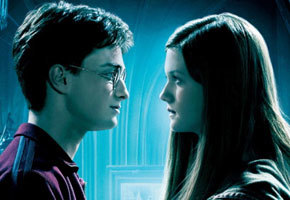Daniel Radcliffe and Bonnie Wright in 'Harry Potter and the Half-Blood Prince'