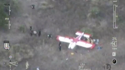 The Seminole County Sheriff's Office helicopter captured video of a plane crash in Lake County.