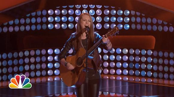 """Smithfield's Bria Kelly won a standing ovation from all four judges on """"The Voice."""""""