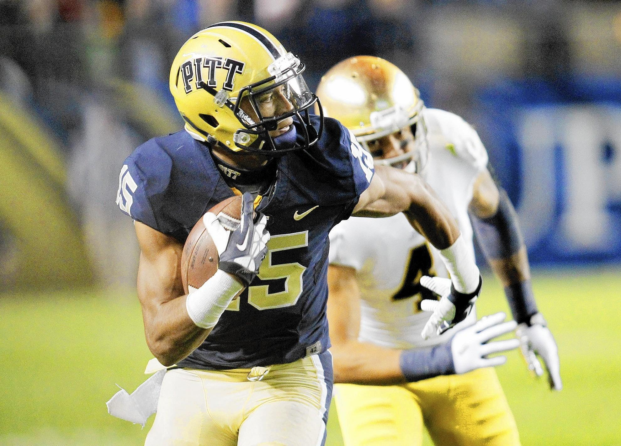 Pittsburgh wide receiver Devin Street, a Liberty High School grad, ran a 4.55 40 at the NFL Combine.