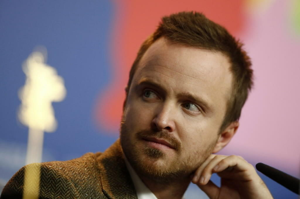 "Actor Aaron Paul attends a news conference to promote the movie ""A Long Way Down"" at the 64th Berlinale International Film Festival in Berlin Feb. 10, 2014."