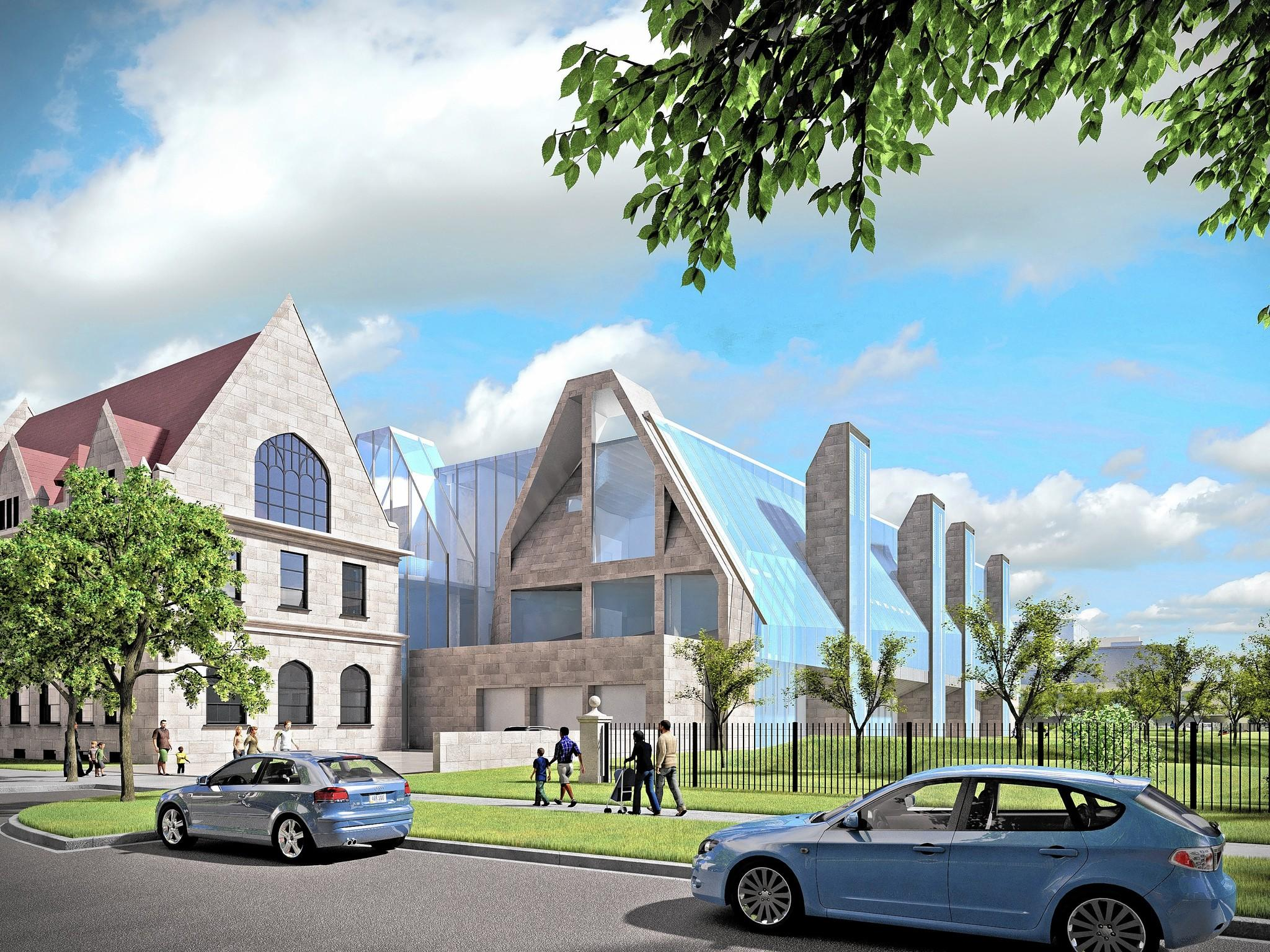 The Gordon Parks Arts Hall, seen in this rendering provided by Visualized Concepts, is believed to be the first building on the University of Chicago campus that will be named after an African-American, according to John Rogers Jr., chairman of U. of C.'s Laboratory Schools.