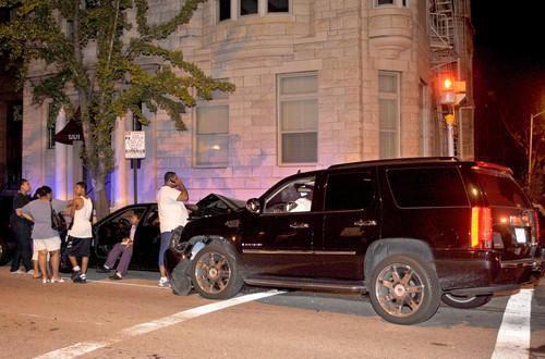 Phelps' car crash