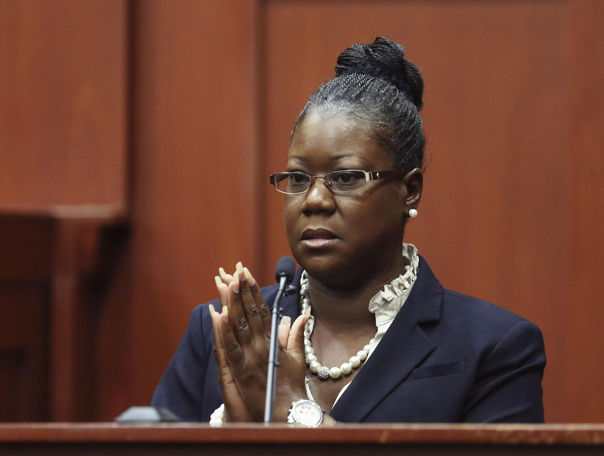 Trayvon Martin's mother, Sybrina Fulton, takes the stand during George Zimmerman's trial in Seminole circuit court in Sanford, Florida July 5, 2013. Zimmerman was charged with second-degree murder for the 2012 shooting death of Trayvon Martin but was acquitted.
