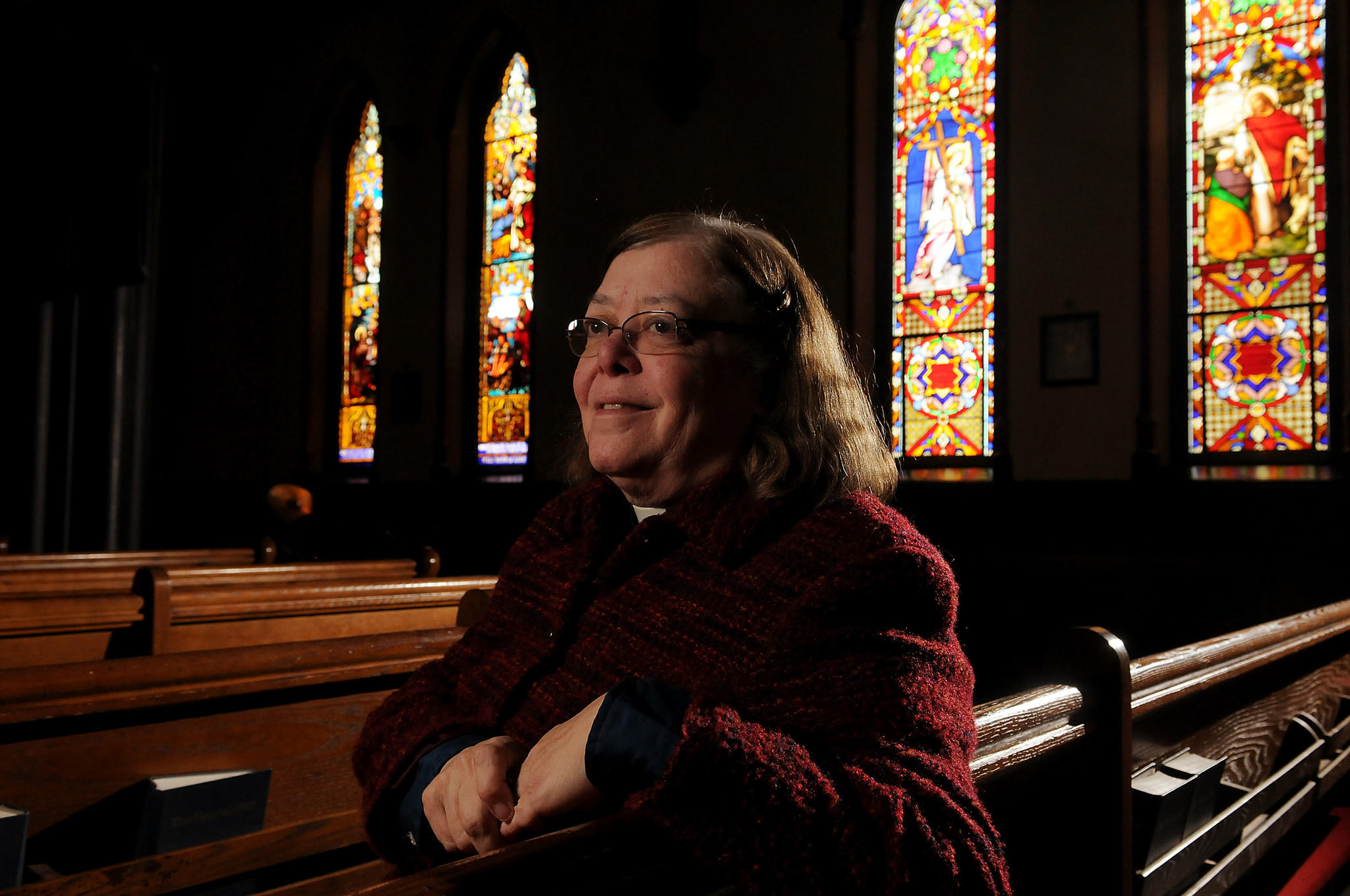 Middletown, CT 02/21/14 Church of the Holy Trinity Pastor Margaret Minnick is retiring March 2 after 18 years. She has been an advocate for the homeless and the elderly, and was a major force in Main Street revitalization efforts in the 1990s. Photo by JOHN WOIKE | woike@courant.com hc-middletown-margaret-minnick-0222