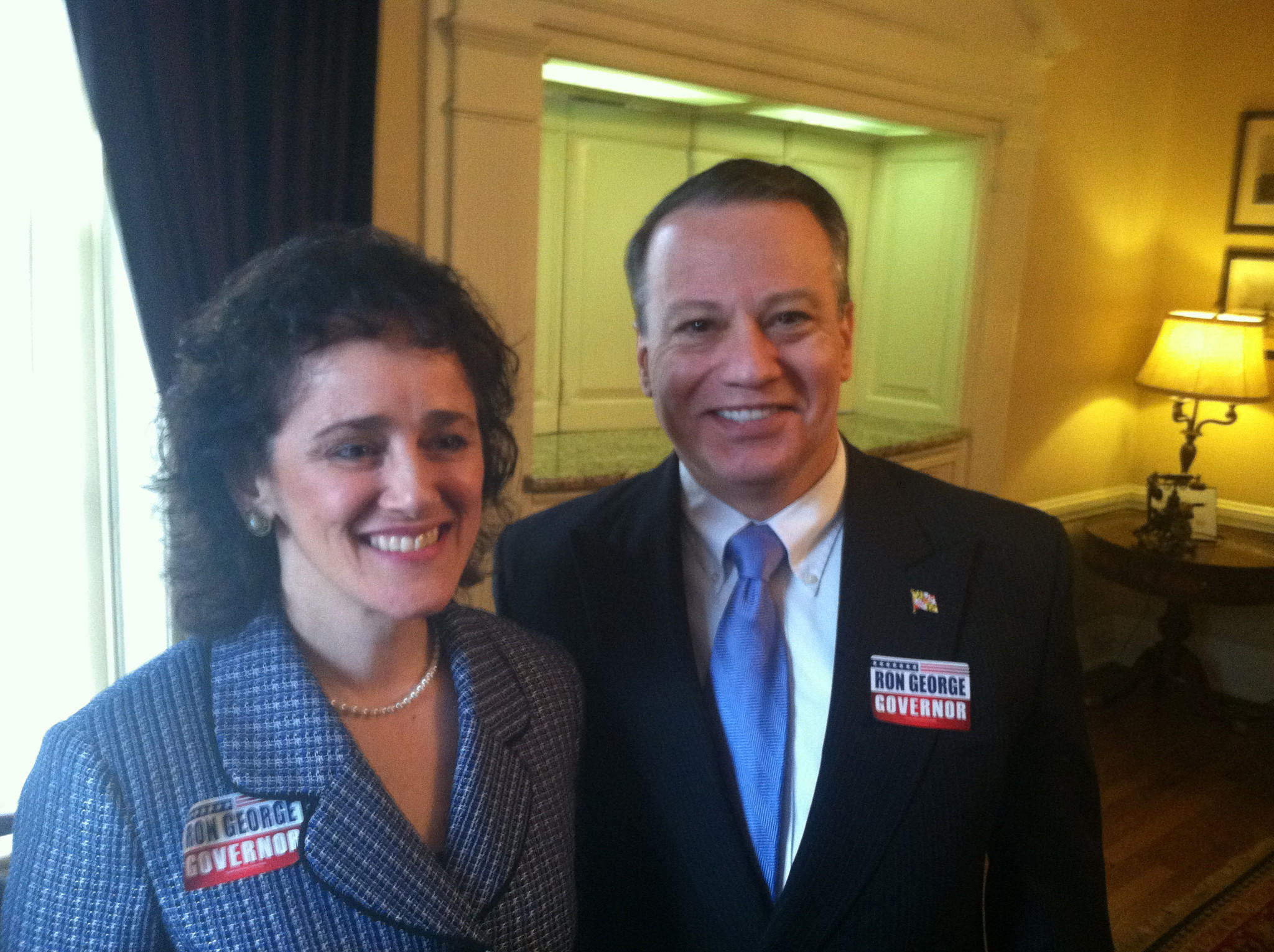 Former Frederick Alderwoman Shelley Aloi joins Del. Ron George as his running mate in his run for the Republican nomination for governor.