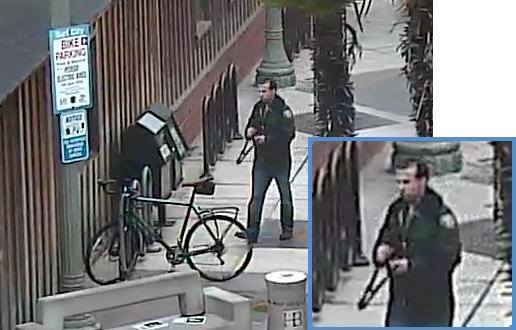 A surveillance image of the man suspected to have stolen an $1,800 bike in downtown Huntington Beach.