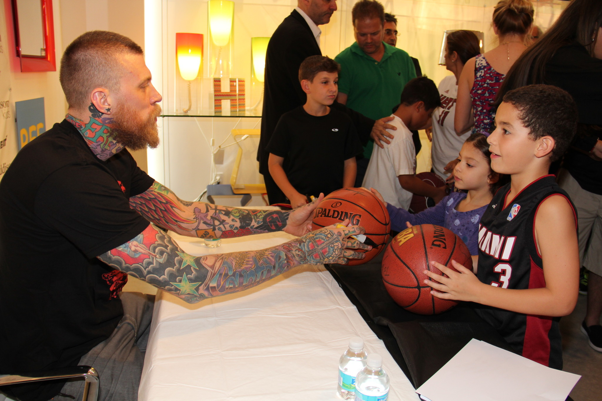 Celeb-spotting around South Florida - Chris Andersen, Alexandra Bentes and Andre Bentes