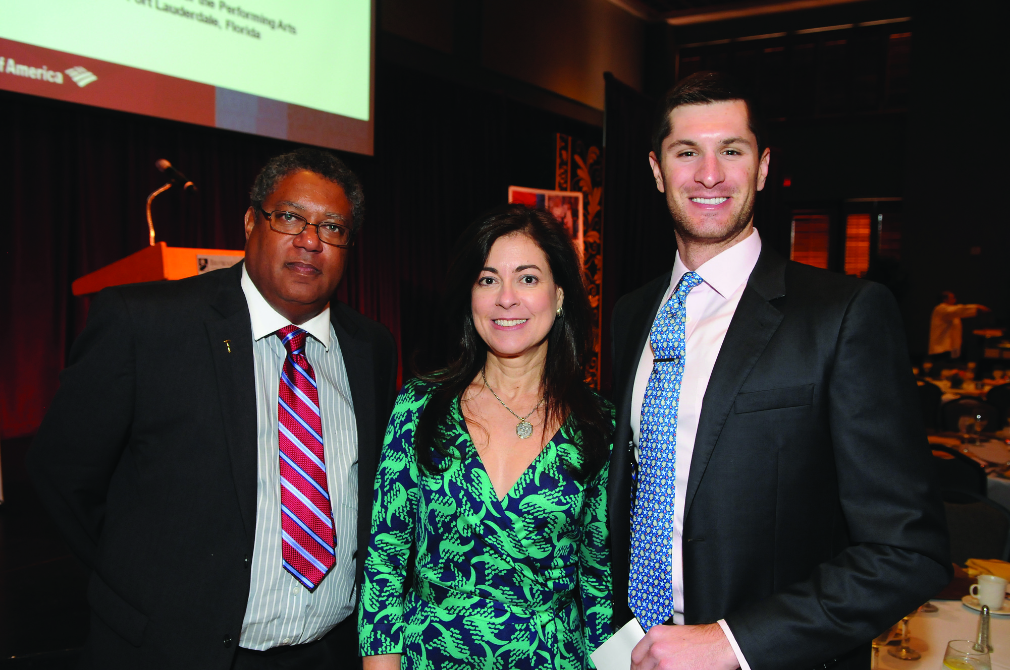 Society Scene photos - Perry Ecton, left, Maria Alonso and Kenneth Brighton came out to support Bank of America