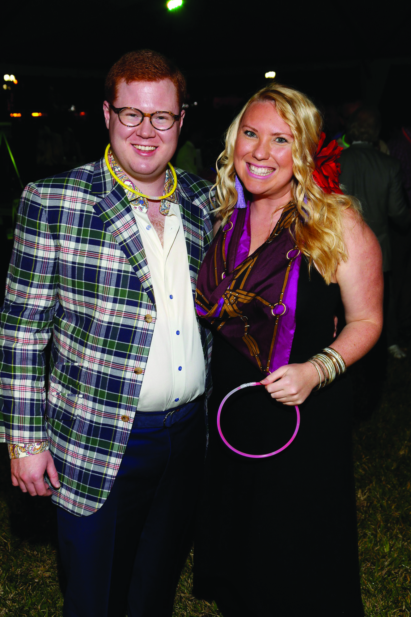 Society Scene photos - Wyatt Koch, left, and Kristen Alyce sported wacky colors for the Center for Creative Education