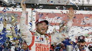 Dale Earnhardt Jr. takes Daytona victory lap on Letterman, other shows