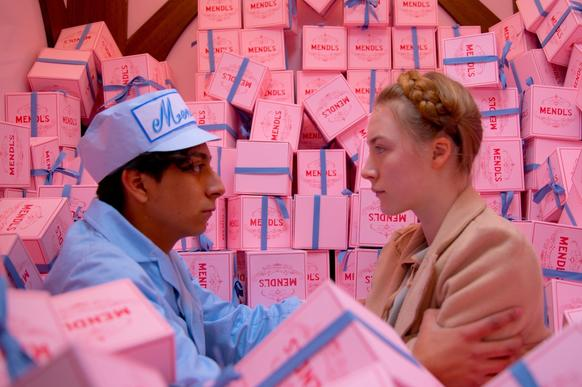 "Tony Revolori as Zero and Saoirse Ronan as Agatha in ""The Grand Budapest Hotel."""