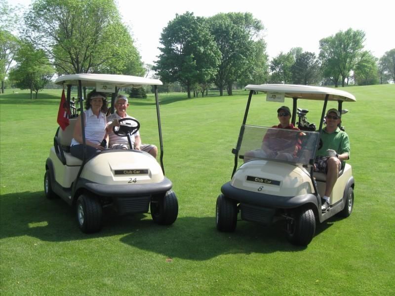 "Golfers at the Downers Grove Junior Woman's Club ""Local Celebrity"" Golf Event."