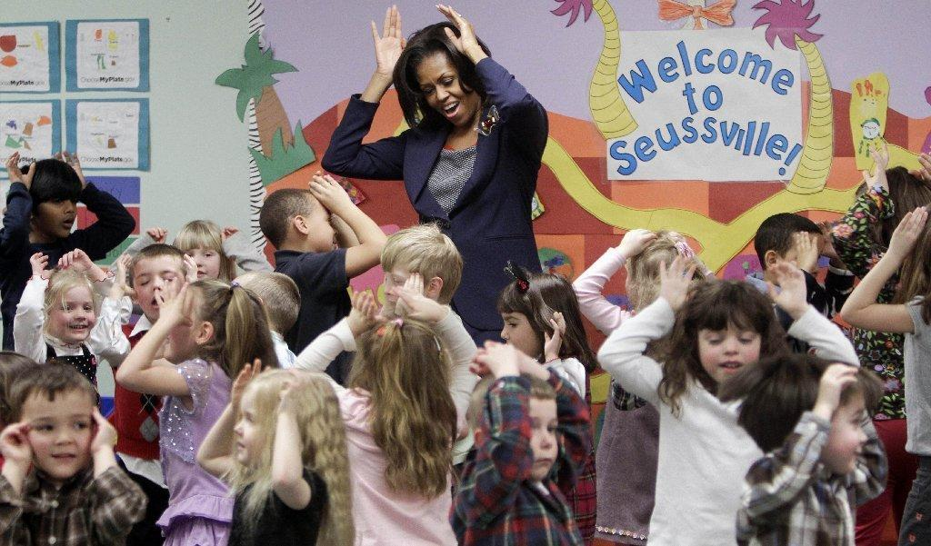 As First Lady Michelle Obama announced a raft of initiatives to combat child obesity, a new government report says that obesity among children 2 to 5 years old has declined markedly.