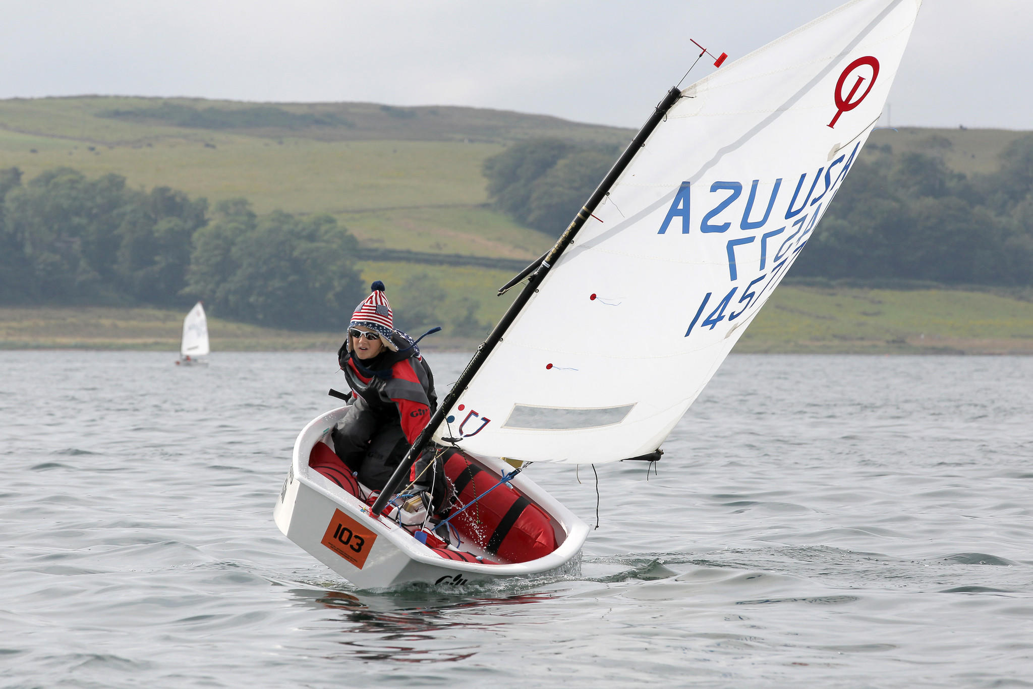 Avon sailor, Jack Howard, races his Opti at the British Nationals in Largs, Scotland in summer of 2013.