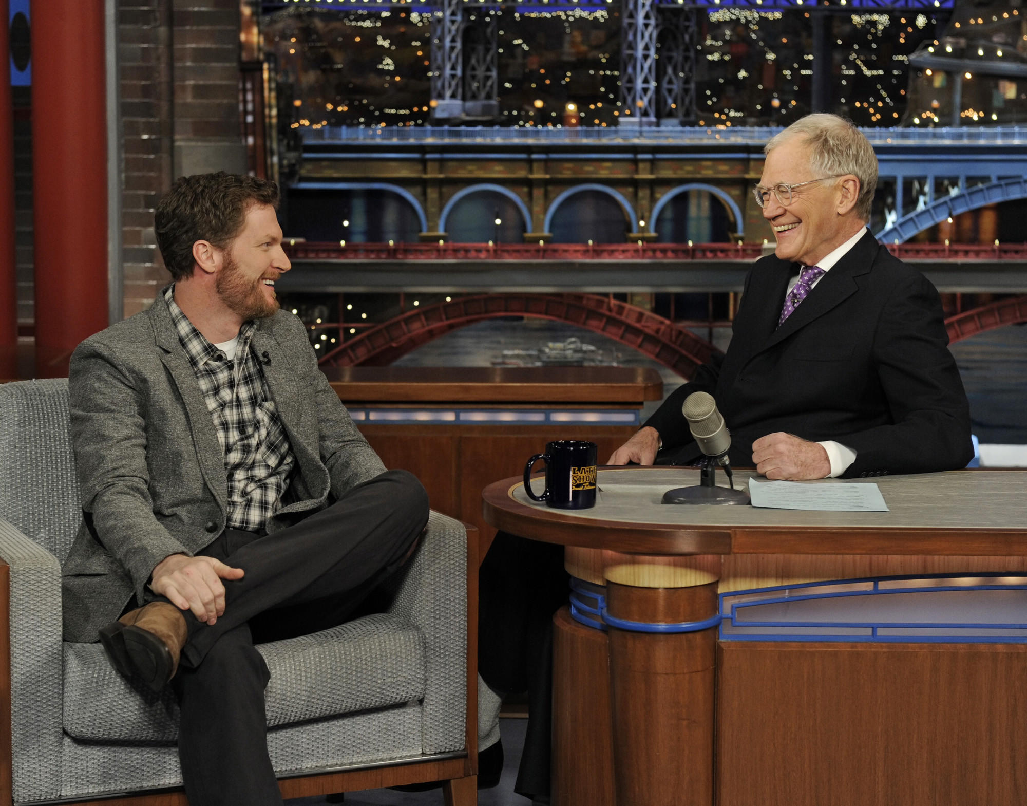 Dale Earnhardt Jr. talks to David Letterman about his second time winning the Daytona 500 on the Late Show with David Letterman.