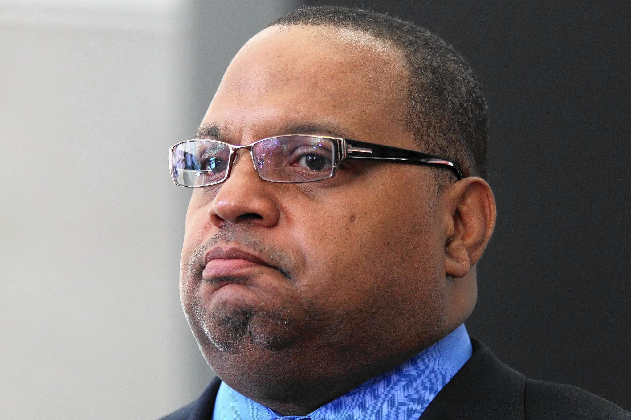 Former West Side Ald. Isaac Carothers after his sentencing on bribery and tax fraud charges at the Dirksen U.S. Courthouse on June 24, 2010. He is by far the best known of five Democrats vying for the 1st District Cook County Board seat being vacated by Earlean Collins.