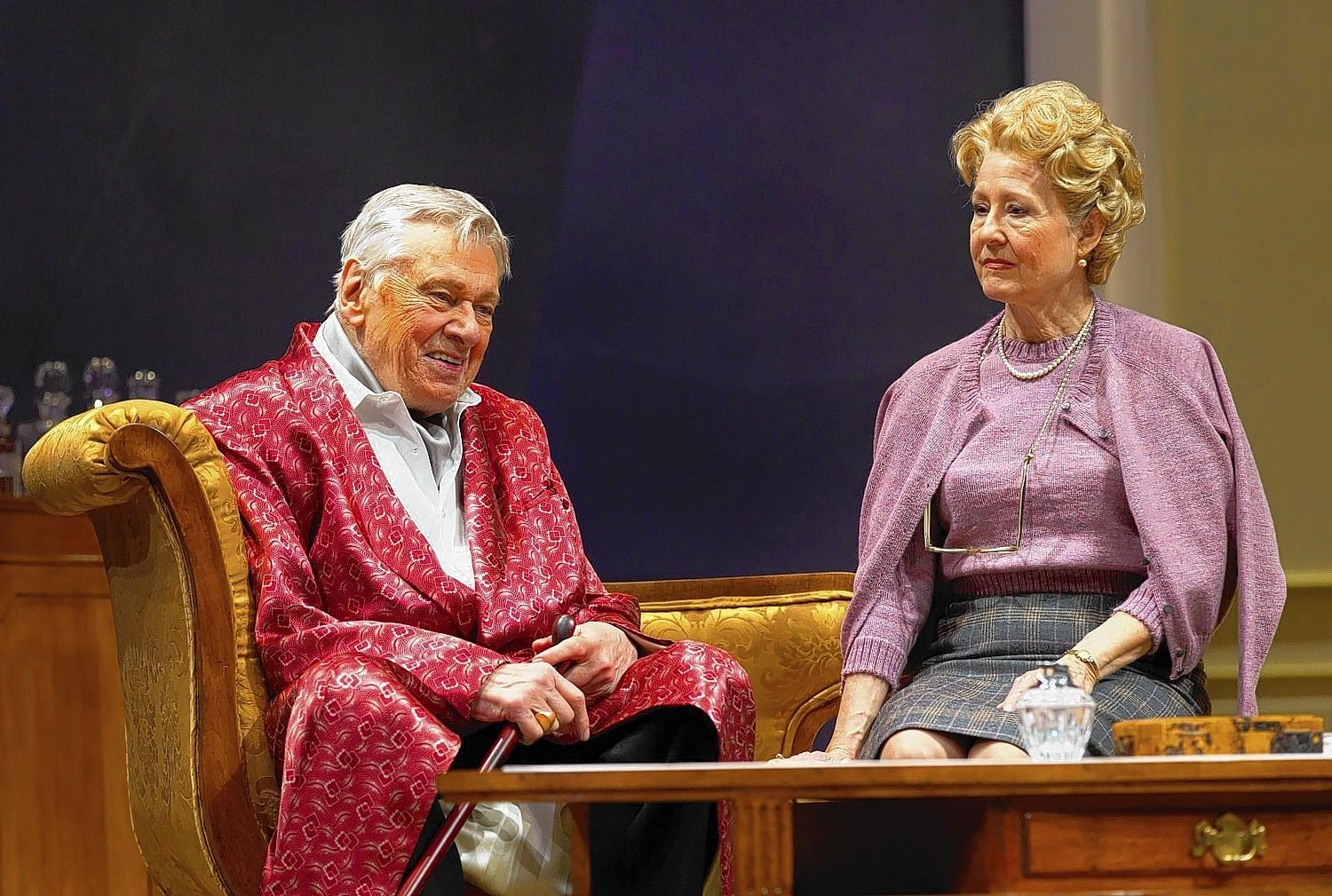 """Brian Murray and Mia Dillon star in """"A Song at Twilight"""" at Hartford Stage."""