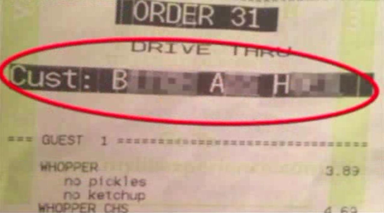 Burger King Food Bank Statement