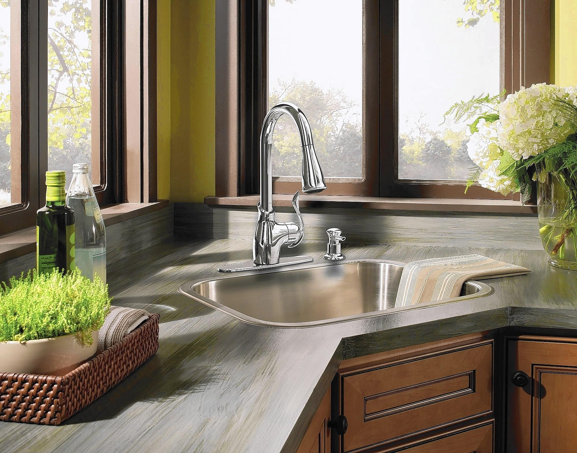 Stainless steel is often the best choice in sink materials if homeowners tend to be hard on sinks.