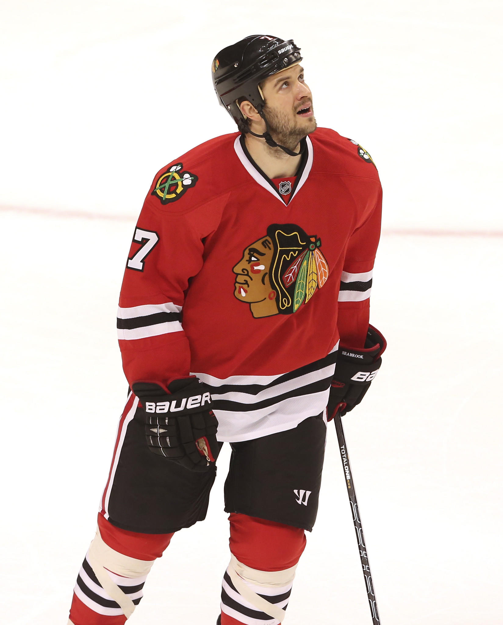 "Blackhawks defenseman Brent Seabrook guest starred on ""Chicago Fire."""