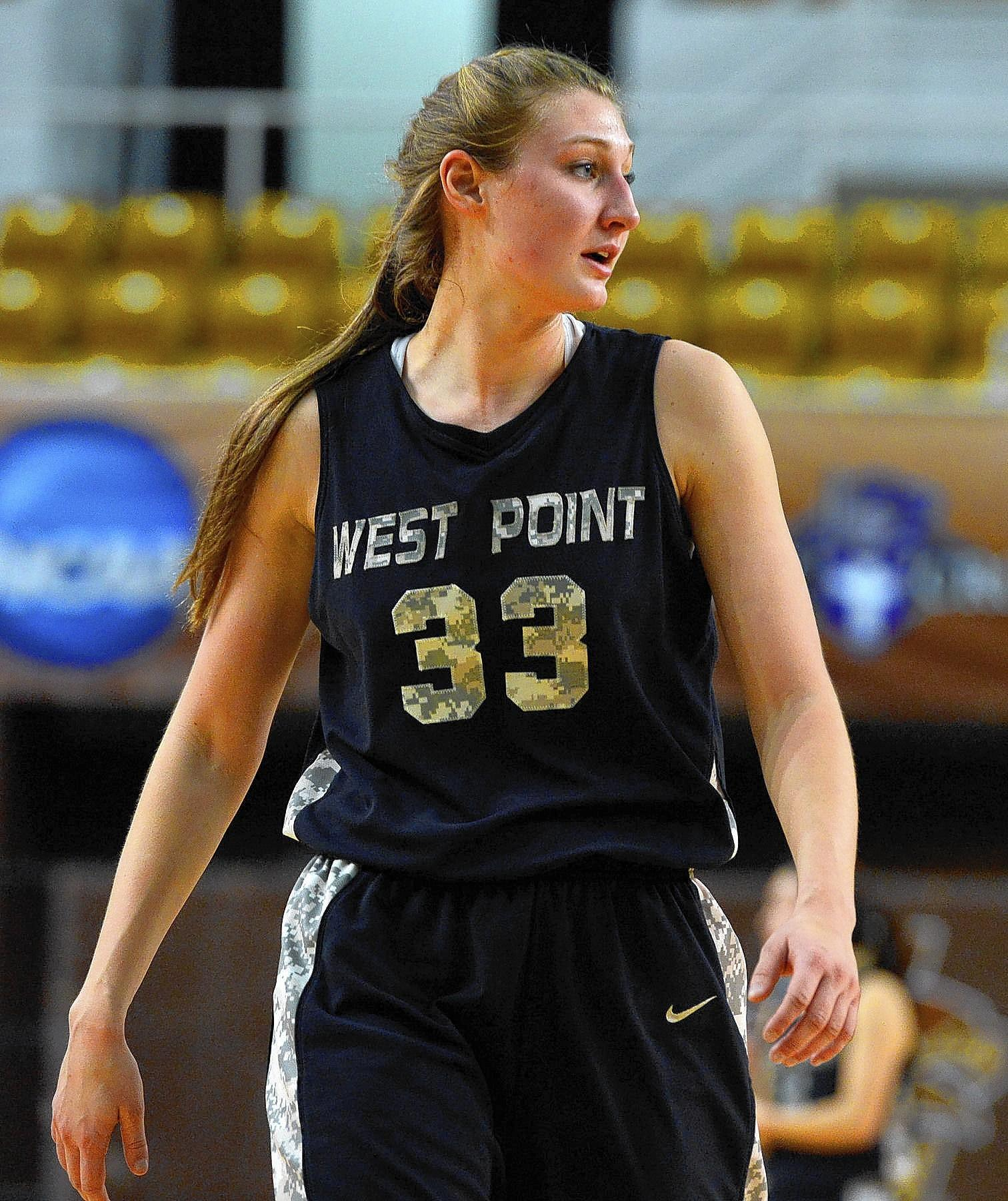 Army's Aimee Oertner (33) plays against Lehigh during a women's basketball game held at Lehigh University's Stabler Arena on Saturday. Aimee Oertner graduated from Northern Lehigh.