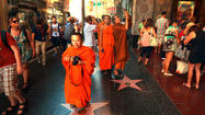 Reader photo: In Hollywood, sightseeing monks