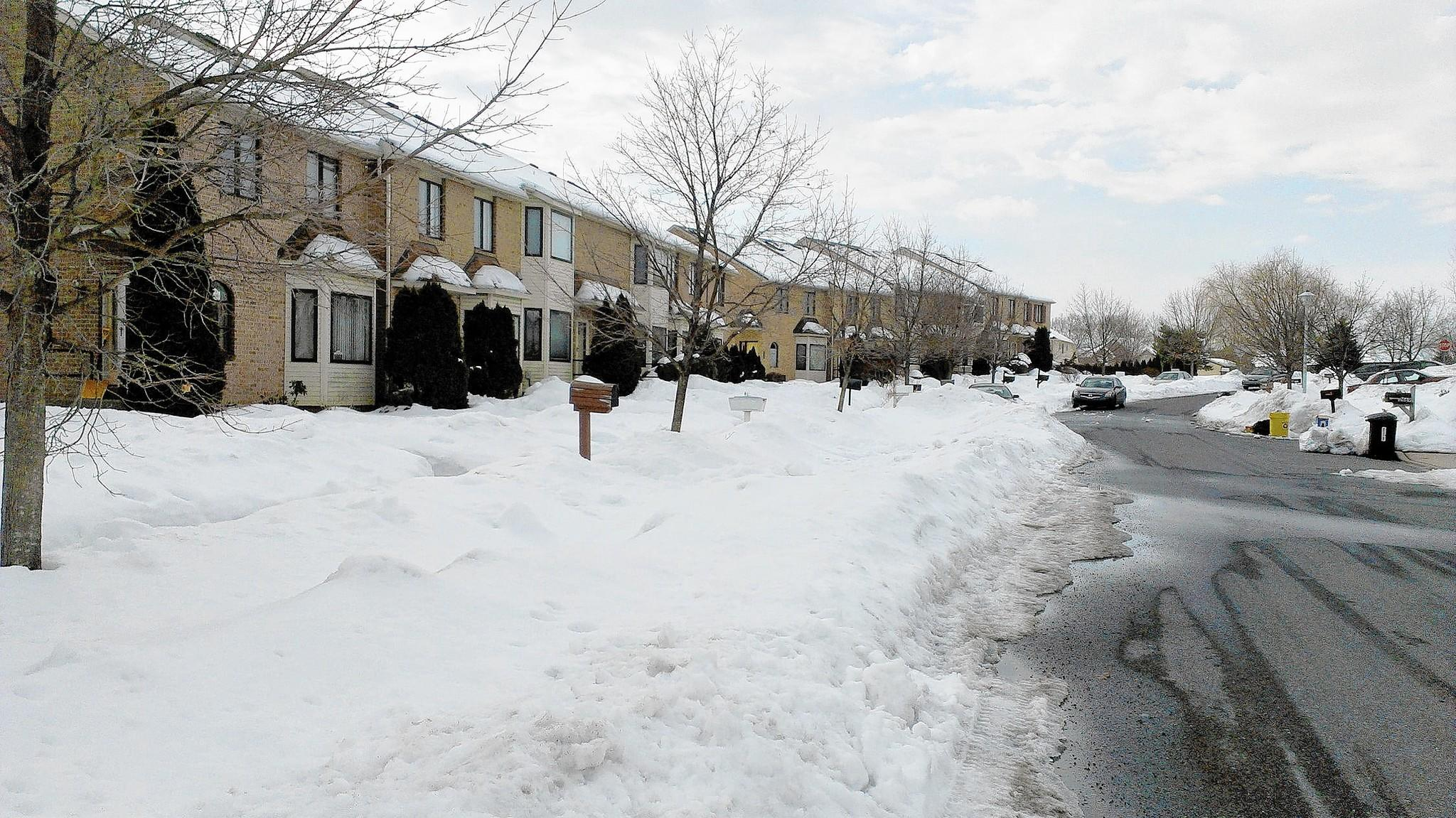 Homeowners in several Whitehall Township neighborhoods did not receive mail for days after the last big snowstorm because mail carriers said they couldn't reach many of their boxes.