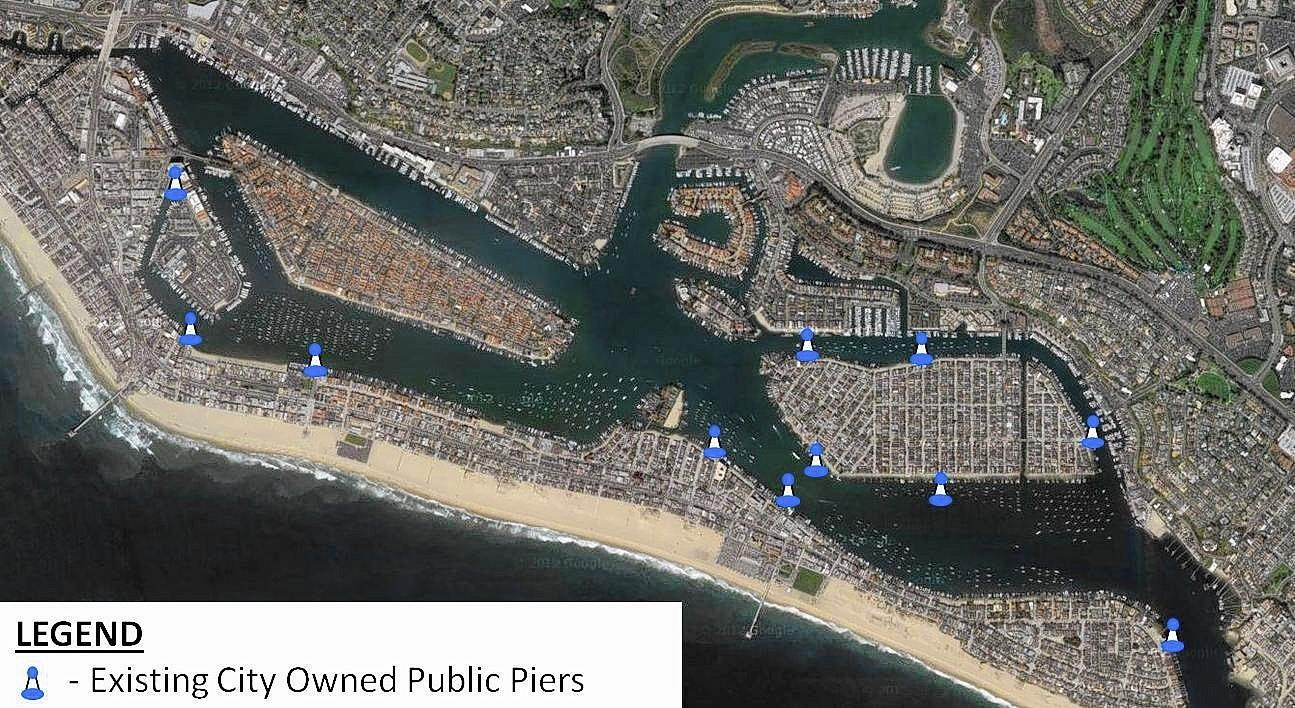 The eleven public piers in Newport Beach were reviewed by the Harbor Commission, which recommended more diligent upkeep.