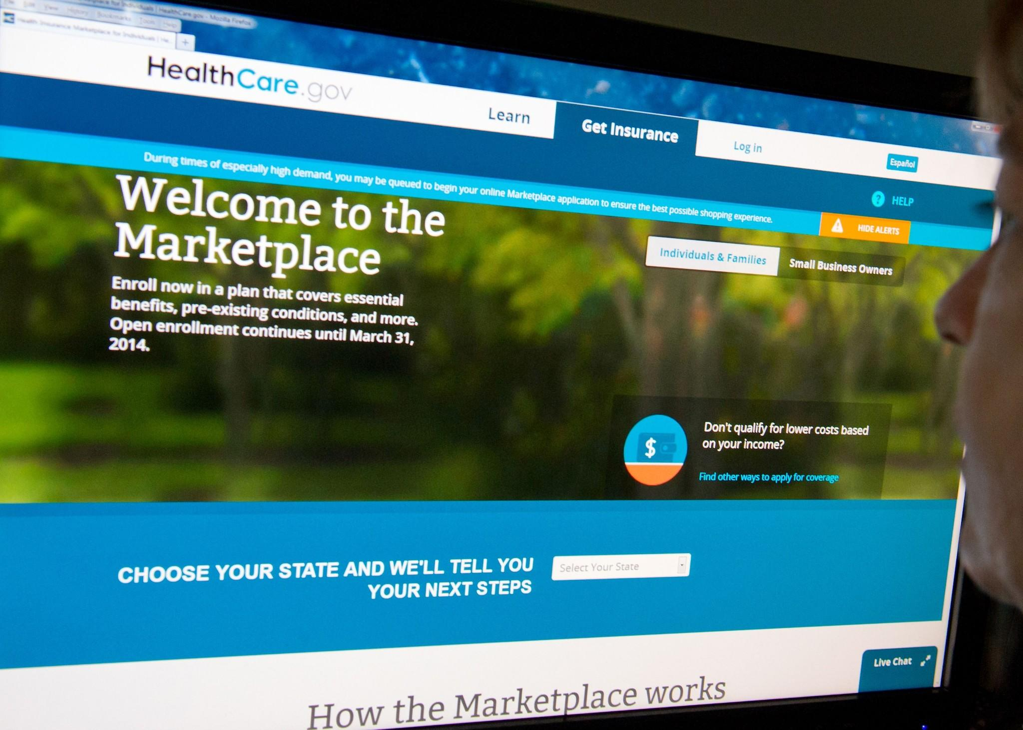 The Homepage Of The Federal Healthcare Online Insurance Exchange