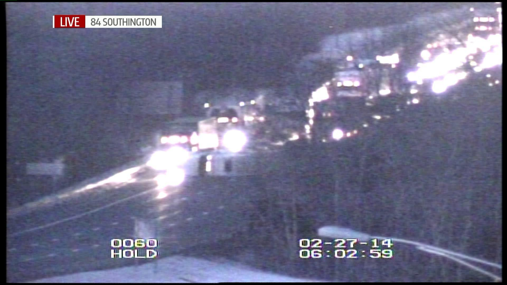 A tractor-trailer crash has closed I-84 eastbound in Southington.