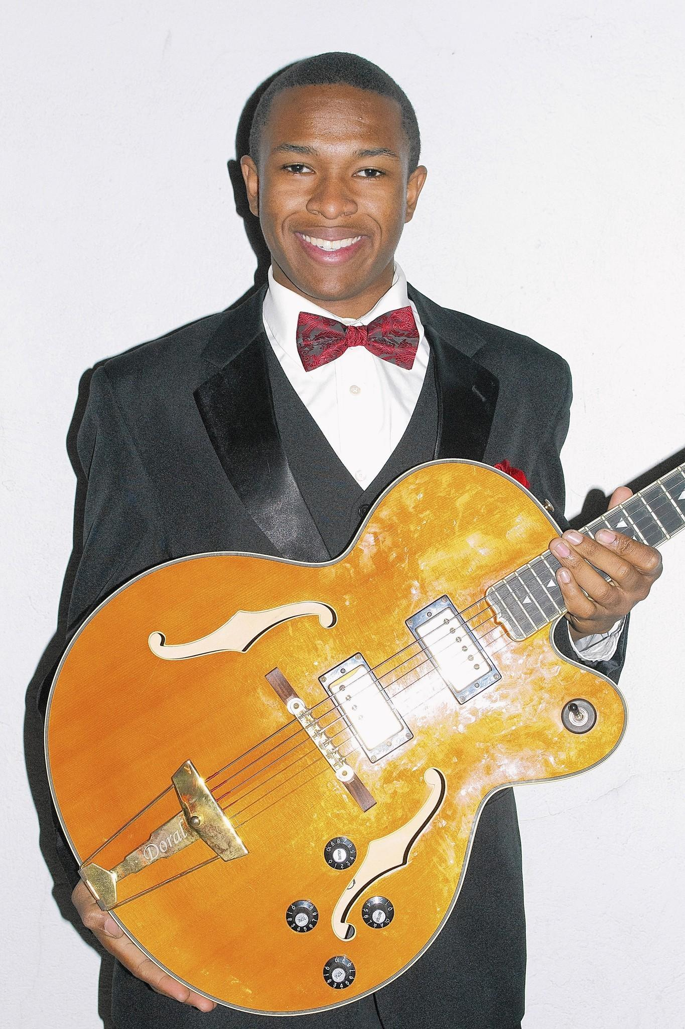 Solomon Hicks, 19, blues guitarist, soulful singer and energetic entertainer, is known to his fans as King Solomon.