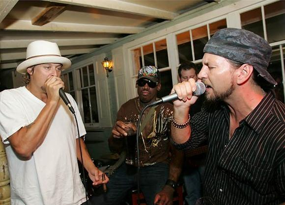 Kid Rock, Dennis Rodman and Eddie Vedder