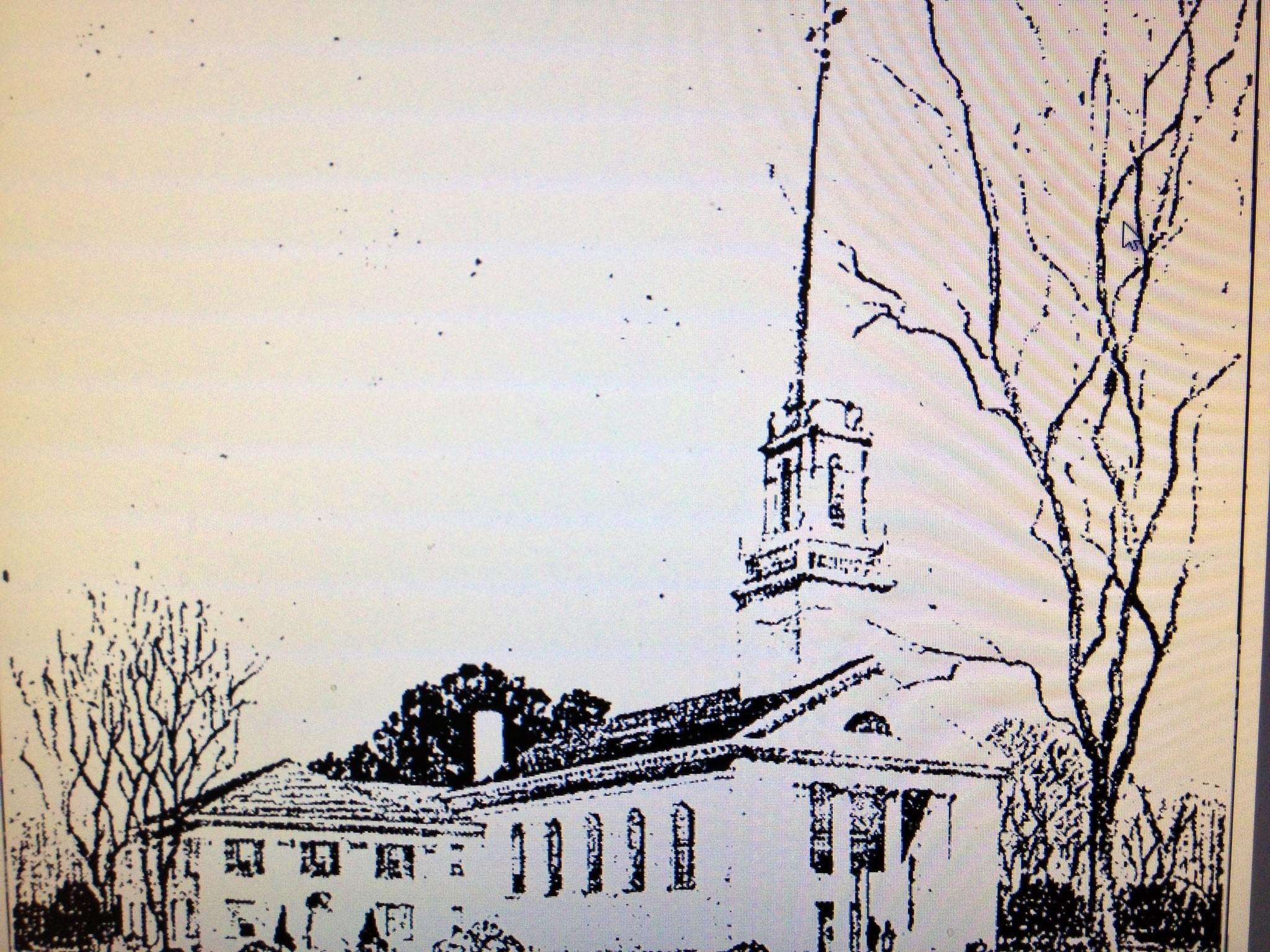 An architectural drawing of what the new church would look like ran in The Hartford Courant on Feb. 27, 1939. The drawing mirrors the look of the present day First Church of Christ, Congregational.