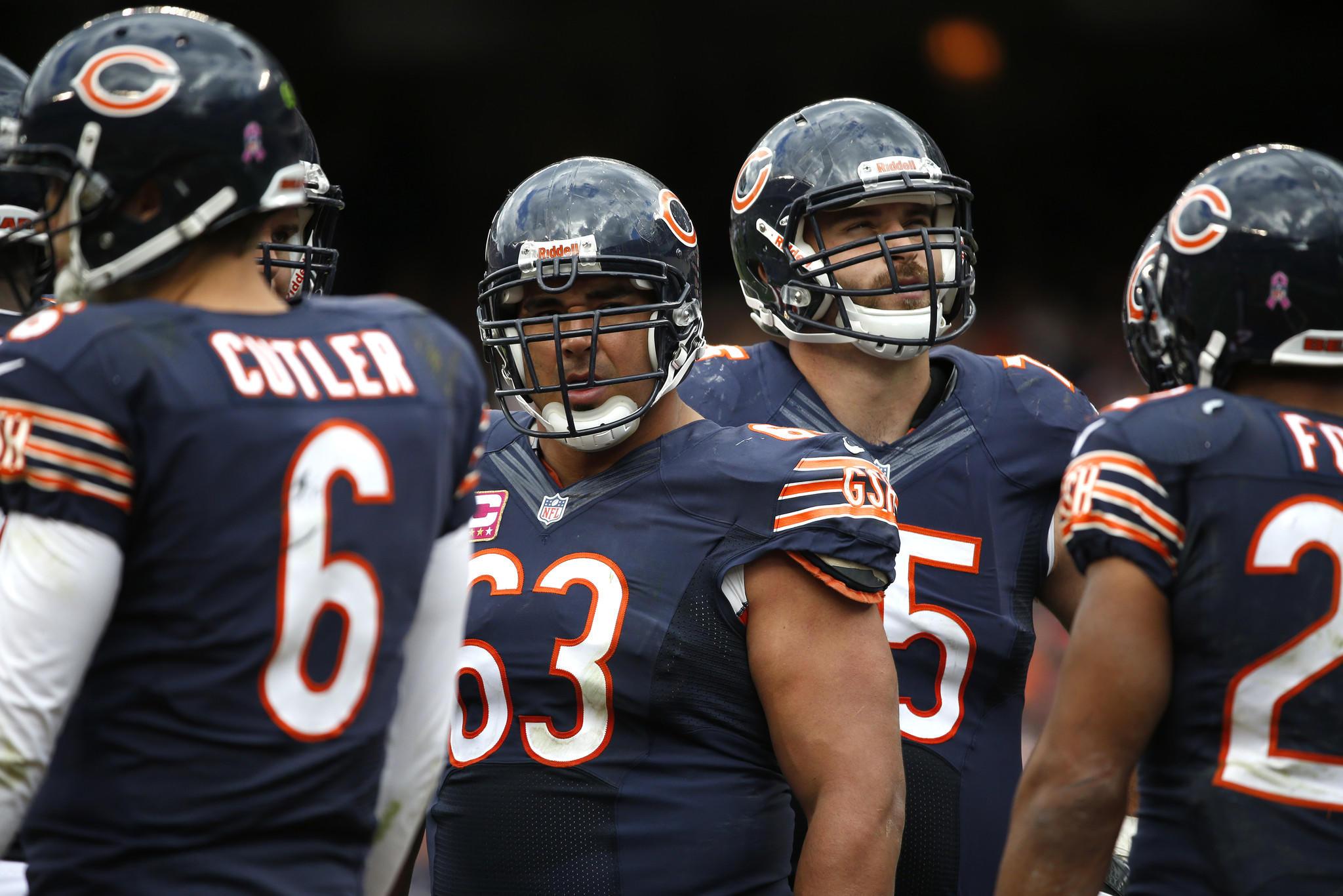 Chicago Bears center Roberto Garza.