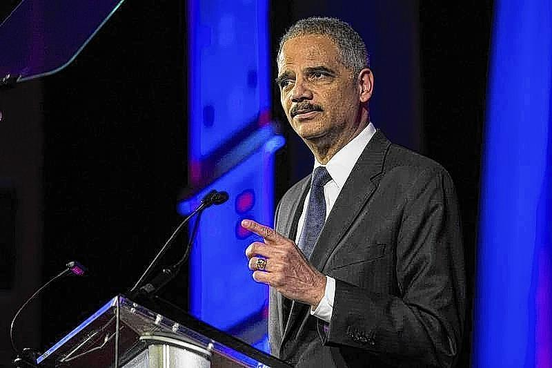 United States Attorney General Eric Holder speaks during the Human Rights Campaign's 13th annual Greater New York Gala on Feb. 8.