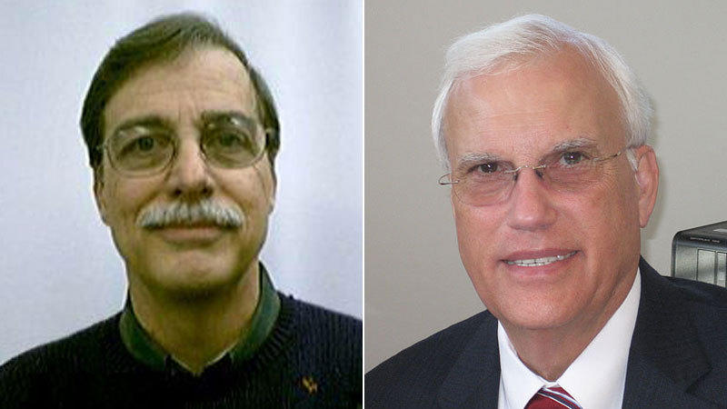 "In a statement, UConn said it has ""initiated disciplinary proceedings"" against music Professor Robert Miller, left, and David Woods, former Dean of the School of Fine Arts."