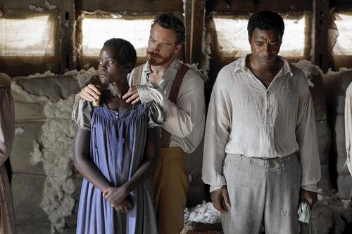 """Lupita Nyong'o, Michael Fassbender and Chiwetel Ejiofor are in """"12 Years a Slave"""" which is nominated for the Best Picture Academy Award."""