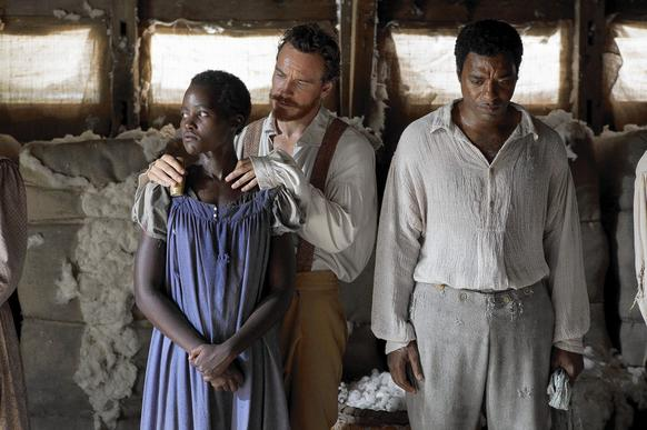 "Lupita Nyong'o, Michael Fassbender and Chiwetel Ejiofor are in ""12 Years a Slave"" which is nominated for the Best Picture Academy Award."