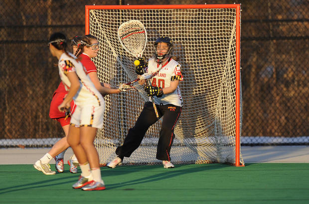In only her third career start, the Marriotts Ridge graduate made 21 saves in the No. 2 Terps' 14-7 win Saturday at then-No. 7 Penn State. Clipp, who faced 36 shots, came within three of the school record set in 1977 and recorded the most saves by a Division I goalie since 1994. She also had three saves and allowed five goals in 30 minutes of an 18-8 win over Boston University. Clipp, who is from Ellicott Citty, has a .640 save percentage and a 5.14 goals-against average this season.