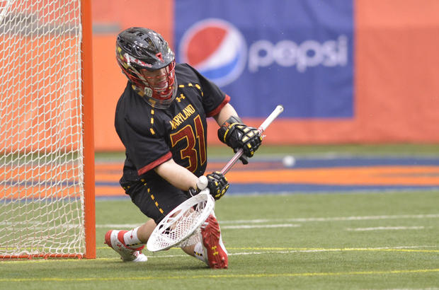 In a game filled with standout performances, Amato anchored then-No. 11 Maryland's 16-8 upset of then-No. 2 Syracuse in the Atlantic Coast Conference opener for both teams Saturday. The 5-foot-8, 185-pound senior goalie surrendered two goals on the Orange's first three shots, but settled down to finish with a game-high 11 saves and hold Syracuse to 10 goals below its season average. For his effort, Amato was named the ACC's Defensive Player of the Week on Tuesday. Amato is from Conshohocken, Pa.
