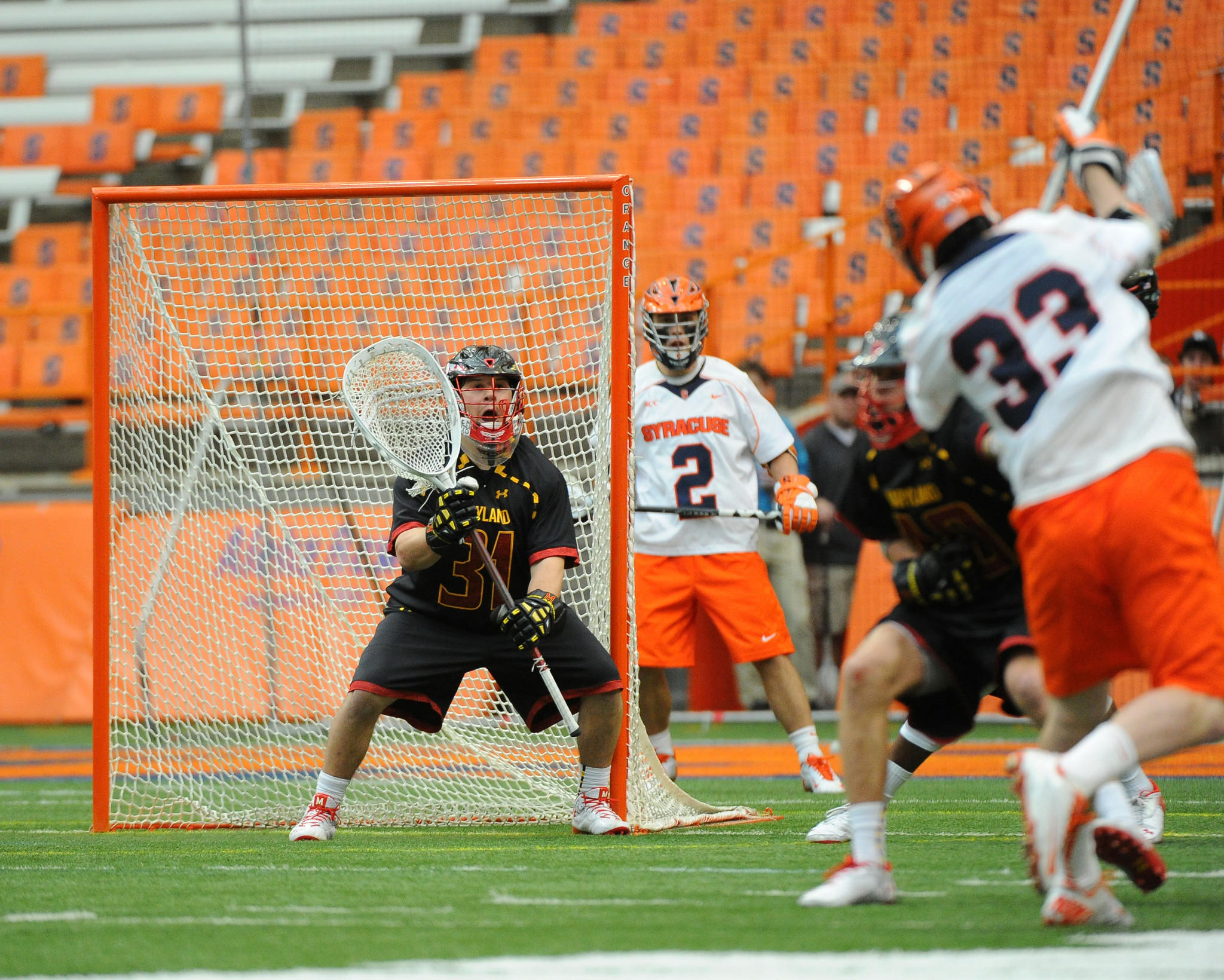 Maryland goalie Niko Amato was one of three Terps named to the 2014 Tewaaraton Award Watch List.