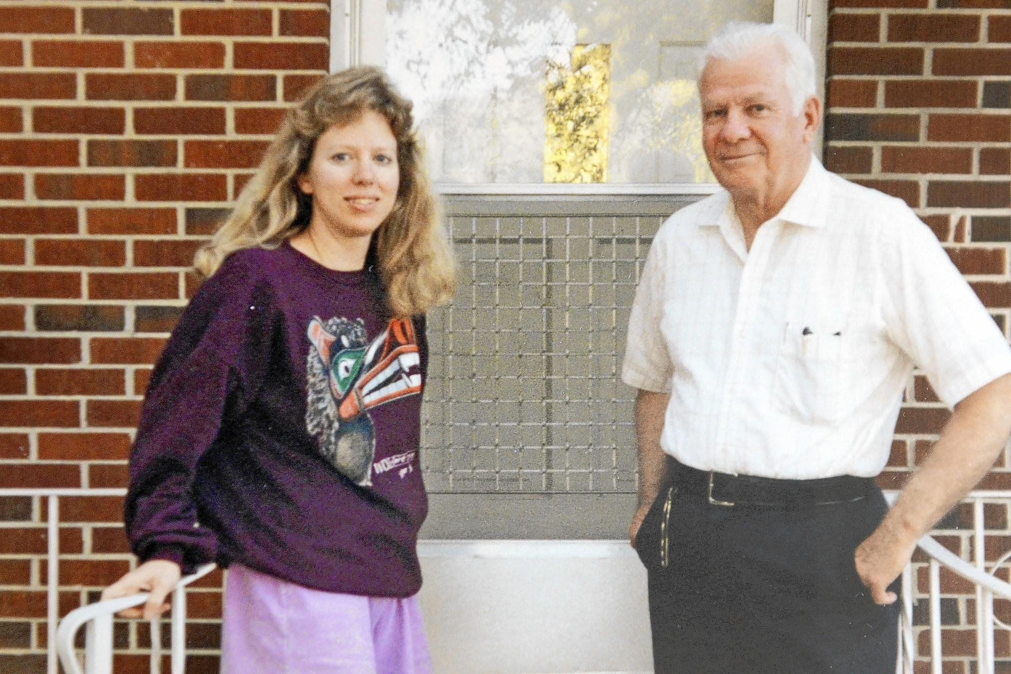 Barbara Mancini, shown in 1992 with her father, Joseph Yourshaw of Pottsville, was prosecuted for assisting in his 2013 suicide, but that case has been thrown out.