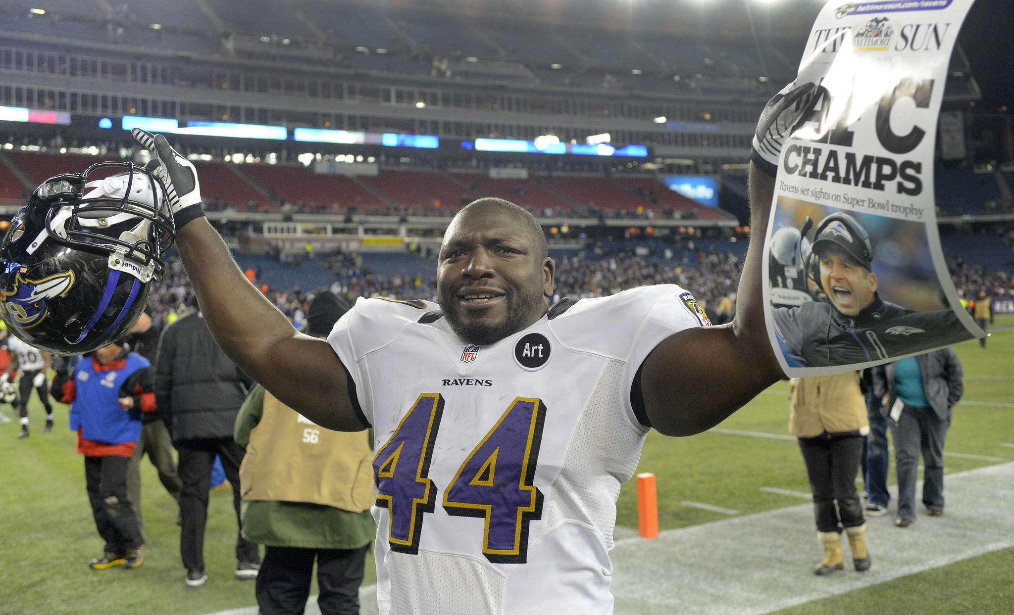 Fullback Vonta Leach was among the most popular players in the Ravens locker room.