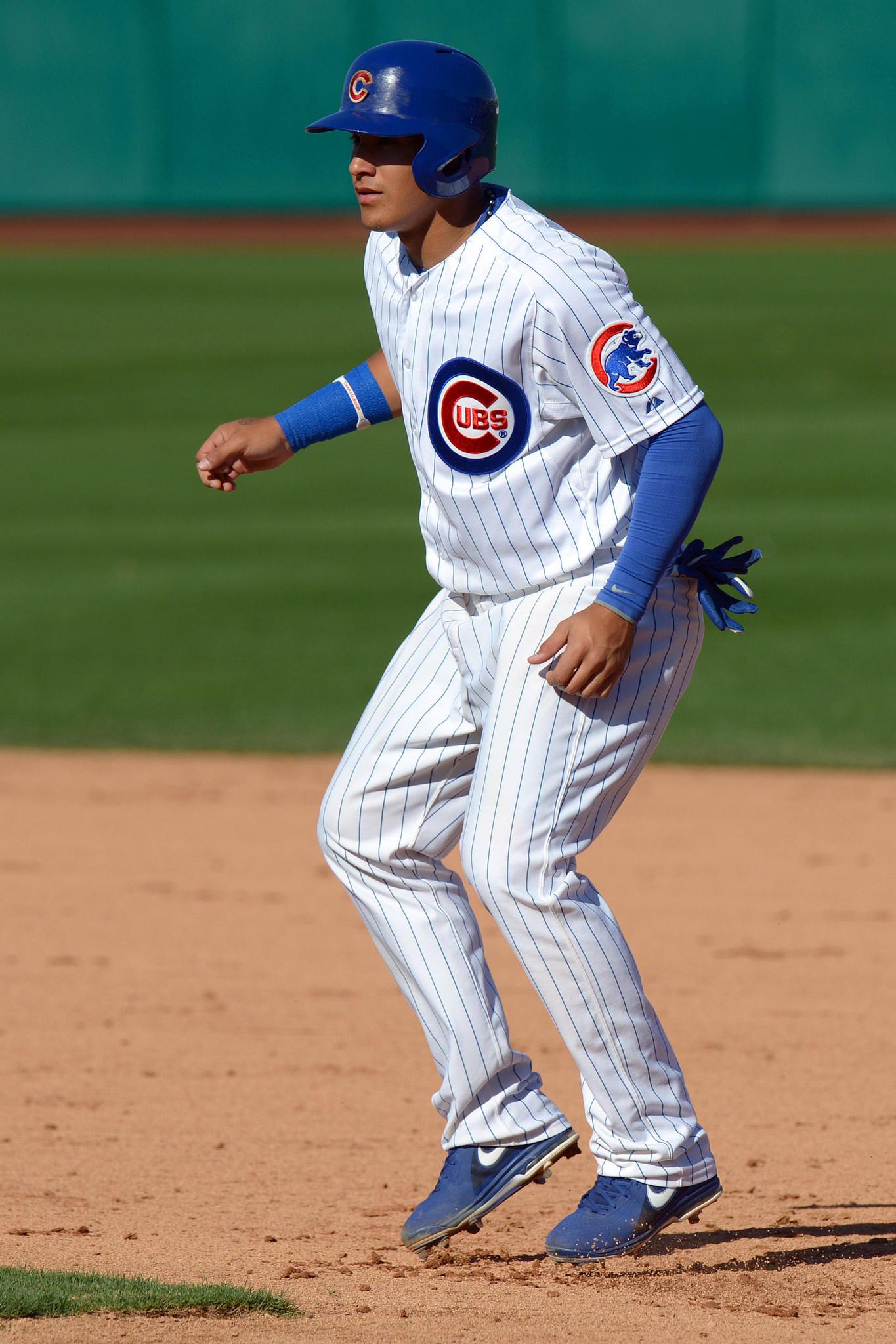 Chicago Cubs shortstop Javier Baez.