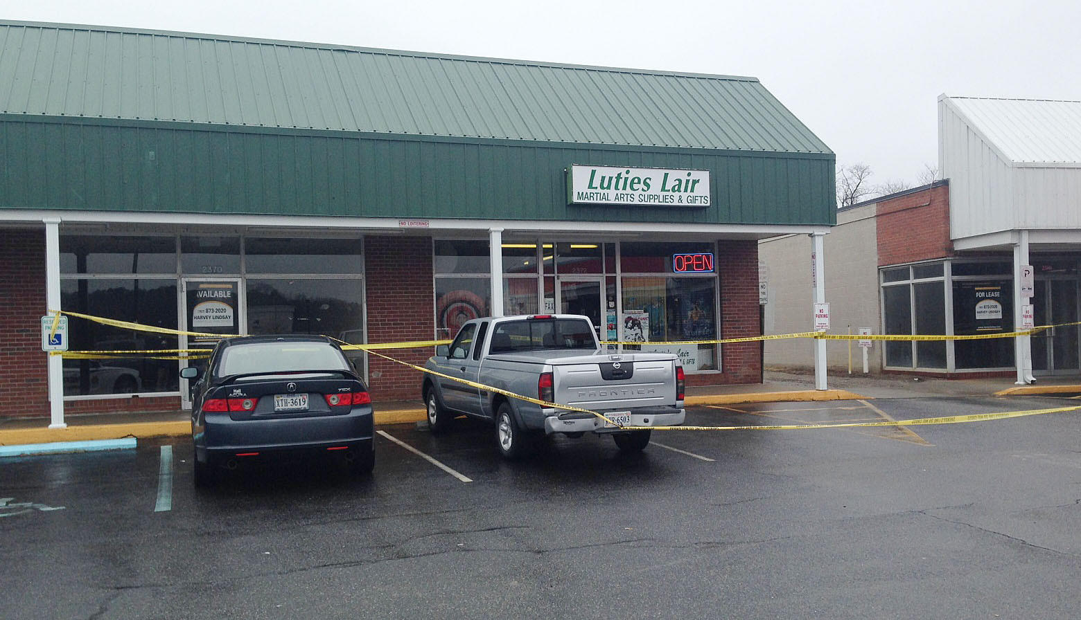 Lutie's Lair, a smoke shop in a Hayes strip mall shown here on Thursday, February 13, 2014, was one of two business in Gloucester raided by a multi-jurisdiction law enforcement task force investigating the sales of illicit synthetic drugs such as spice.