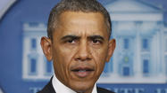 Obama, at the White House, warns Russia not to intervene in Ukraine