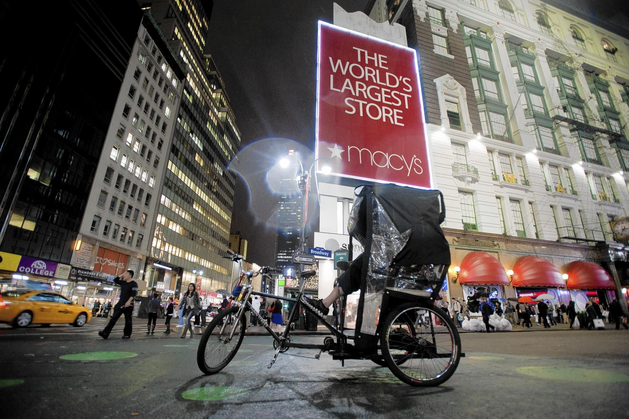 In November, Macy's began testing a product called ShopBeacon at stores in San Francisco and New York that enables a merchant to offer discounts on specific products that a customer has expressed interest in or, perhaps, has lingered near. Above, a store in New York.