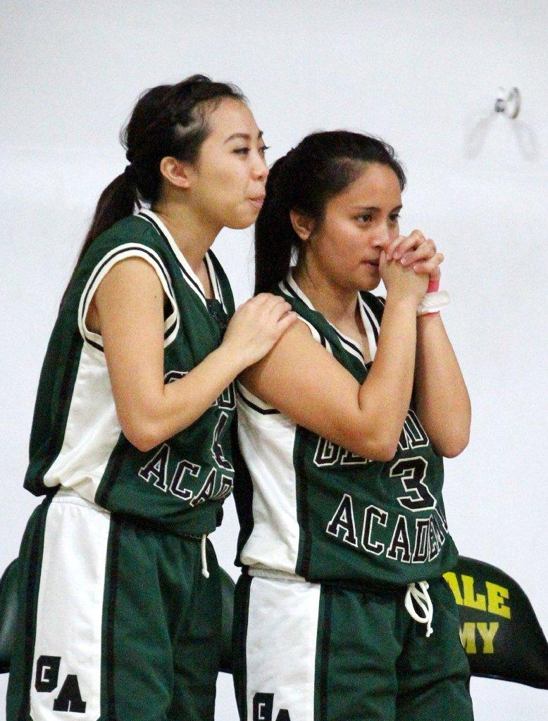 Glendale Adventist Academy's Audrey Tran and Irene Martinez are hoping the Cougars can upend Shalhevet in Saturday's semifinal to advance to the CIF-SS Division VI championship game. (Tim Berger/Staff Photographer)