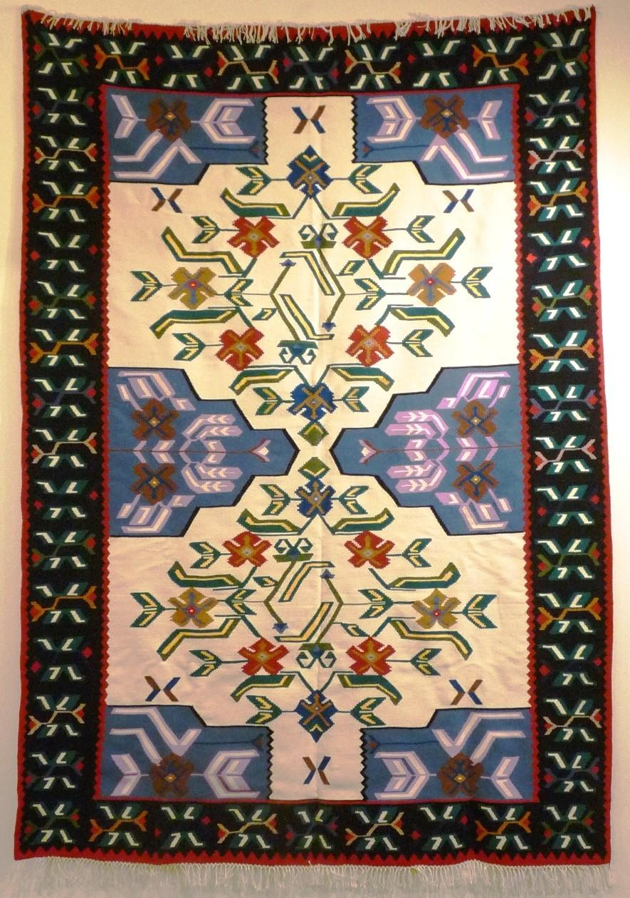 Bosnian carpet by Fikreta Muratovic; 9 x 12 feet.